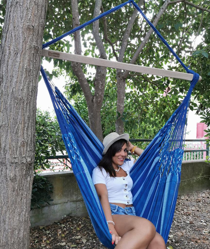 Momenti di relax sulla mia Hammock Chair Tropilex