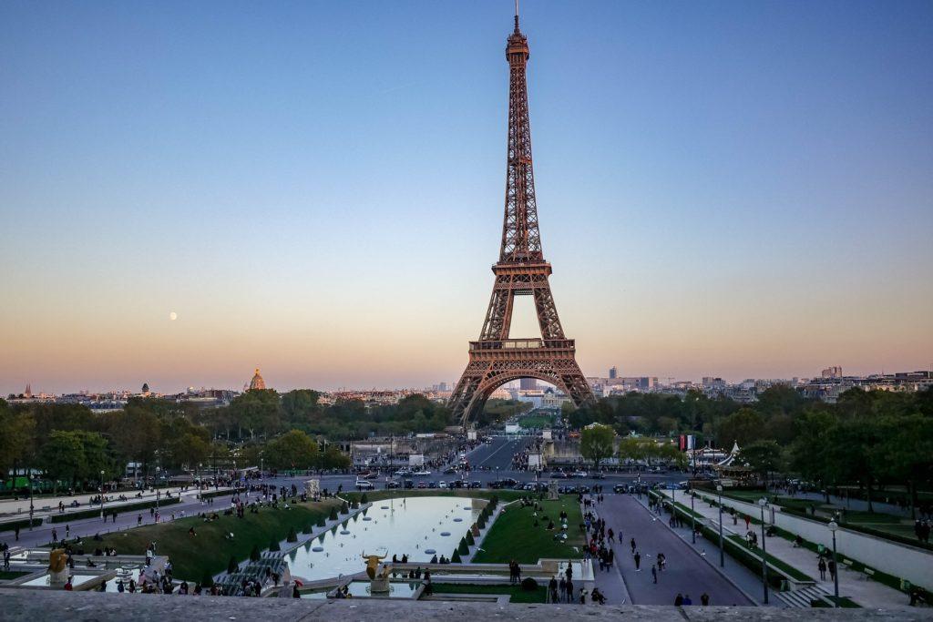 Giardini di Trocadero e Tour Eiffel, un ottimo posto un picnic a Parigi